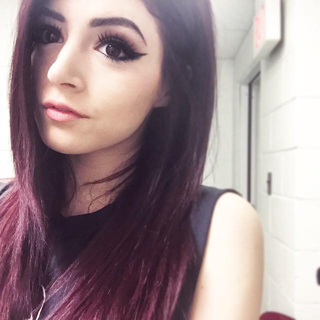 Purple hair blowjob