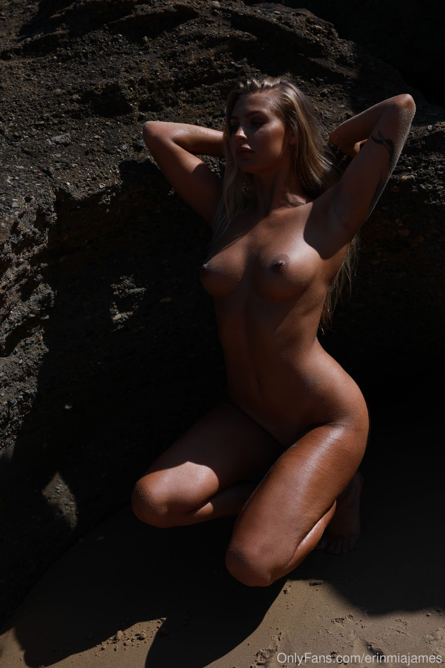 Erin James Nude Beach Photoshoot - Sexy Youtubers-9086