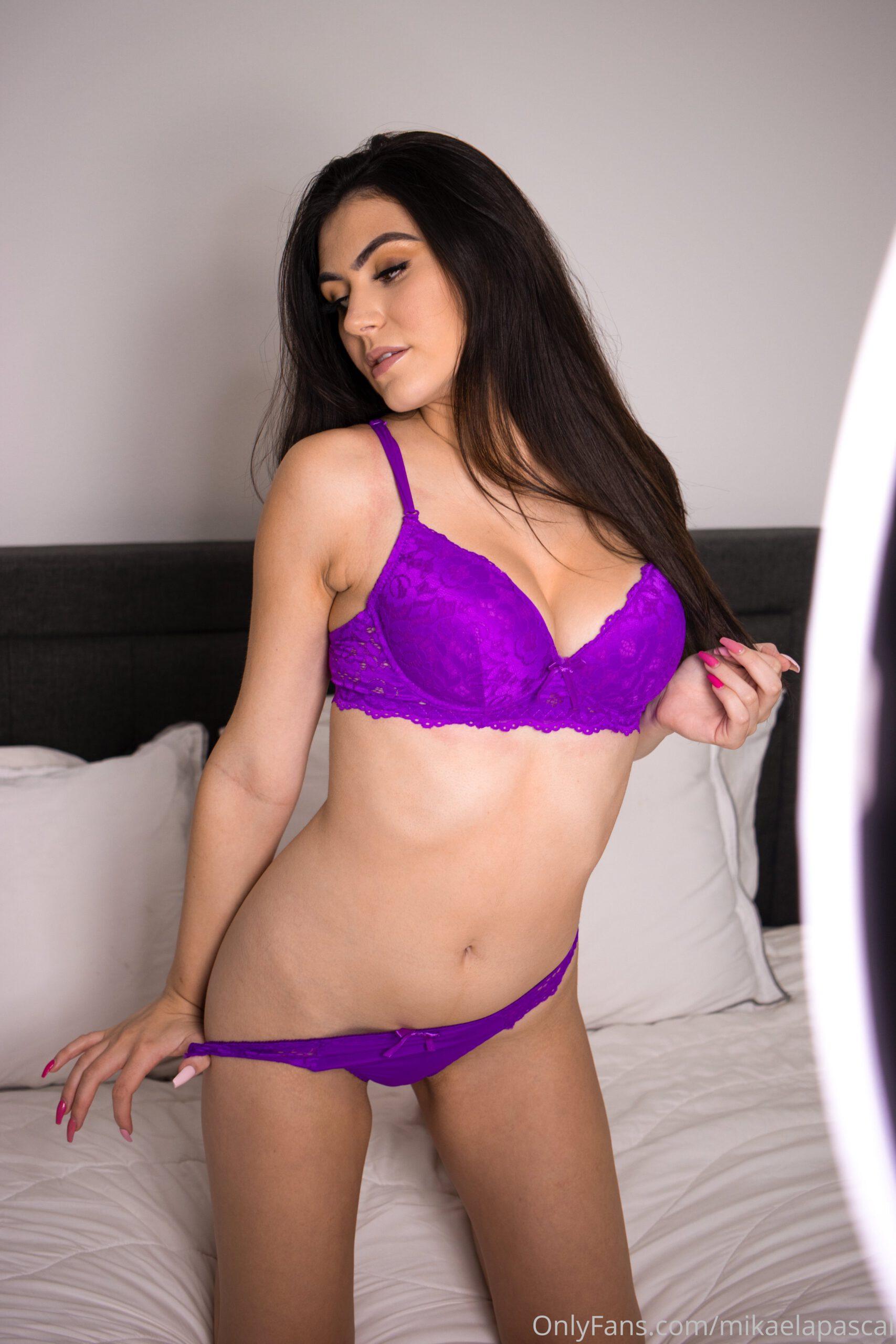 Mikaela Pascal Purple Lingerie 2 scaled