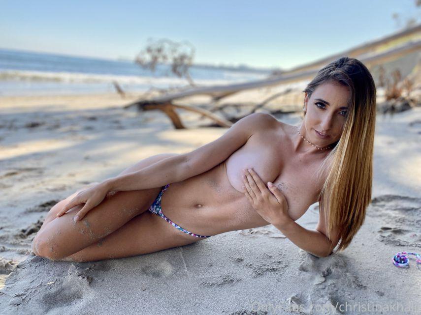 Christina Khalil Nude Beach Photoshoot